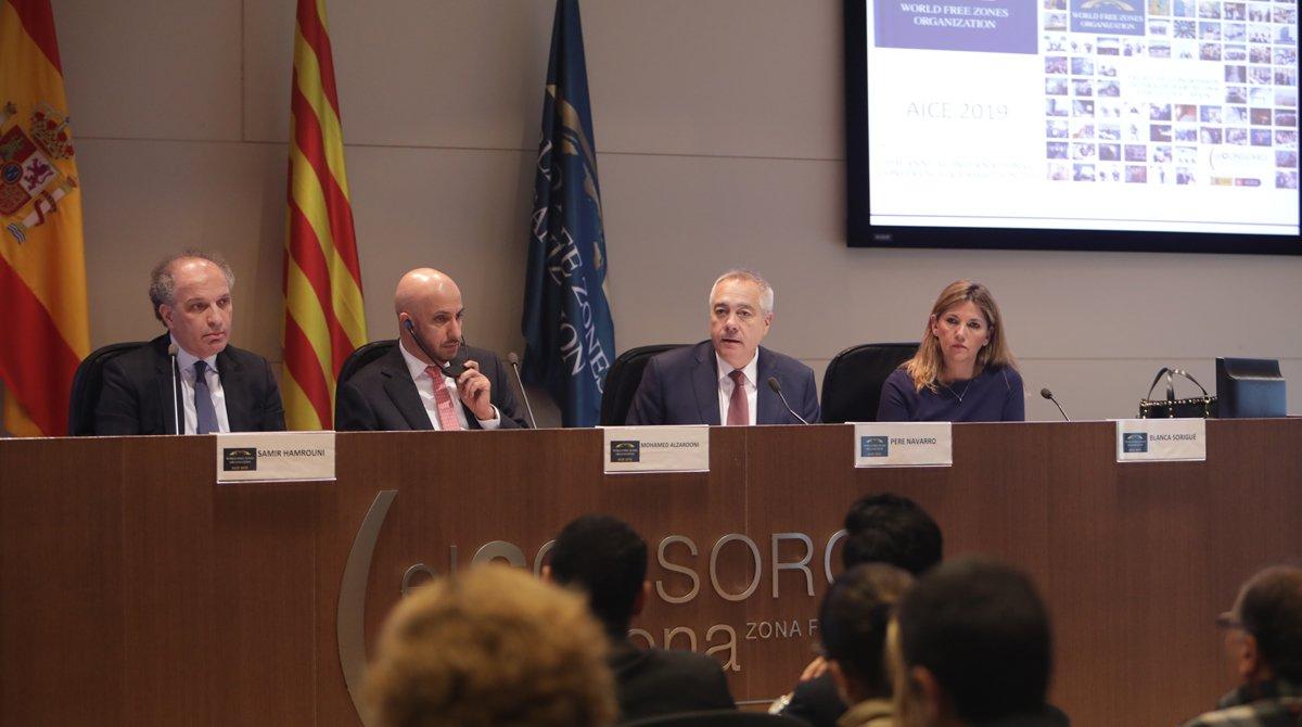 Presentación del Congreso Mundial de Zonas Francas en Barcelona.