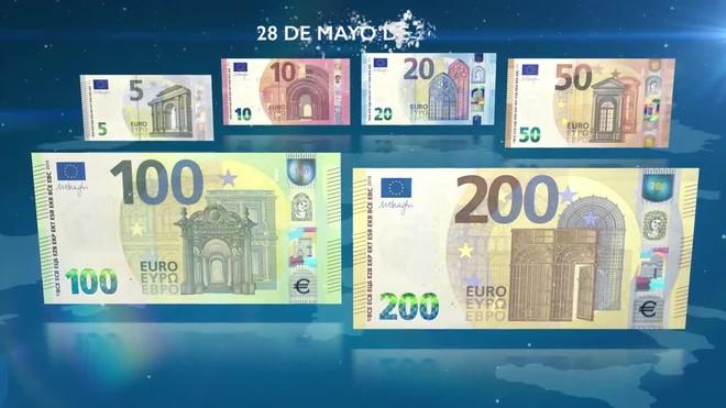 Los nuevos billetes de 100 y 200 euros.