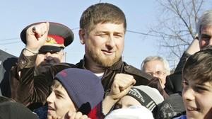 El presidente de la República de Chechenia,Ramzan Kadírov en una foto del 2011.