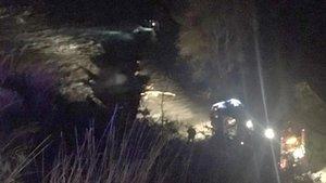 Rescatados dos jóvenes cuyo vehículo fue arrastrado por el río Ter a la altura de Sant Hipòlit de Voltregà.