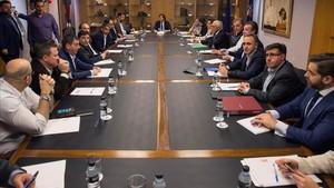 Reunión entre la ACB y la ABP en el Consejo Superior de Deportes.