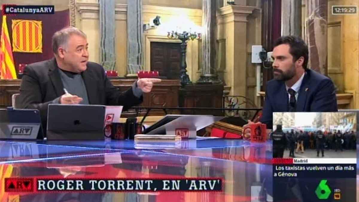 Torrent con Ferreras en 'Al rojo vivo'.