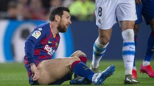 Messi, en el partido ante la Real Sociedad de este sábado.