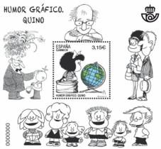 Sello de Correos dedicado a Quino y su personaje Mafalda.