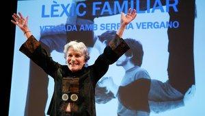 La actriz Serena Vergano, en el Teatre Akadèmia.