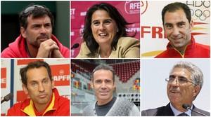 Sergi Bruguera, Conchita Martínez, Albert Costa, Jordi Arrese, Àlex Corretja y Manuel Orantes.