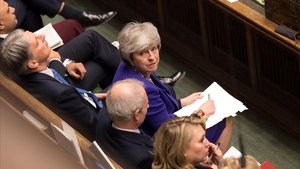 Sesión del Parlamento británico.