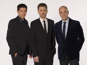 Artur Peguera, Toni Cruanyes i Tomàs Molina, copresentadors del 'TN Vespre'.