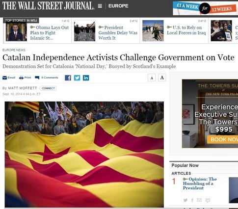El diario económico líder en EEUU augura una crisis constitucional en España.