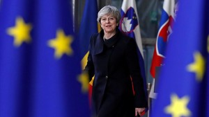 Theresa May, a su llegada a la cumbre de la UE en Bruselas, el 14 de diciembre.