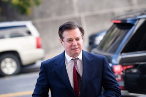 FILES In this file photo taken on June 15 2018 Paul Manafort arrives for a hearing at US District Court in Washington DC - Manafort US President Donald Trump s former campaign chief was sentenced on March 7 2019 to 47 months in prison for tax crimes and bank fraud Photo by Brendan Smialowski AFP