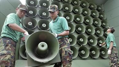 Corea del Sur apaga los altavoces que emitían propaganda hacia el norte