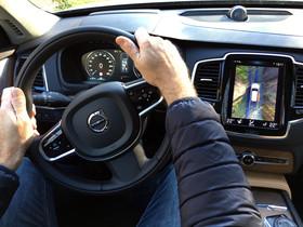 El interior de un Volvo XC90.