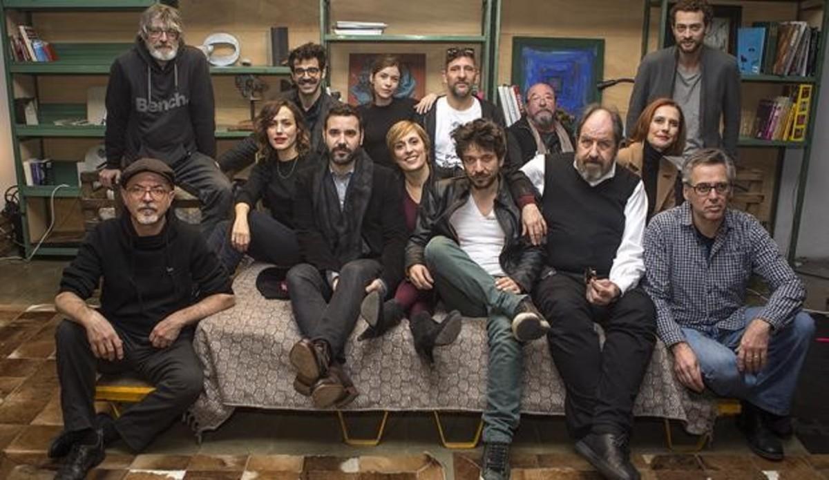 El equipo de la segunda temporada de Nit i dia, la serie de TV-3.