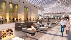 Imagen virtual del centro comercial Diagona Mar, en reformas.