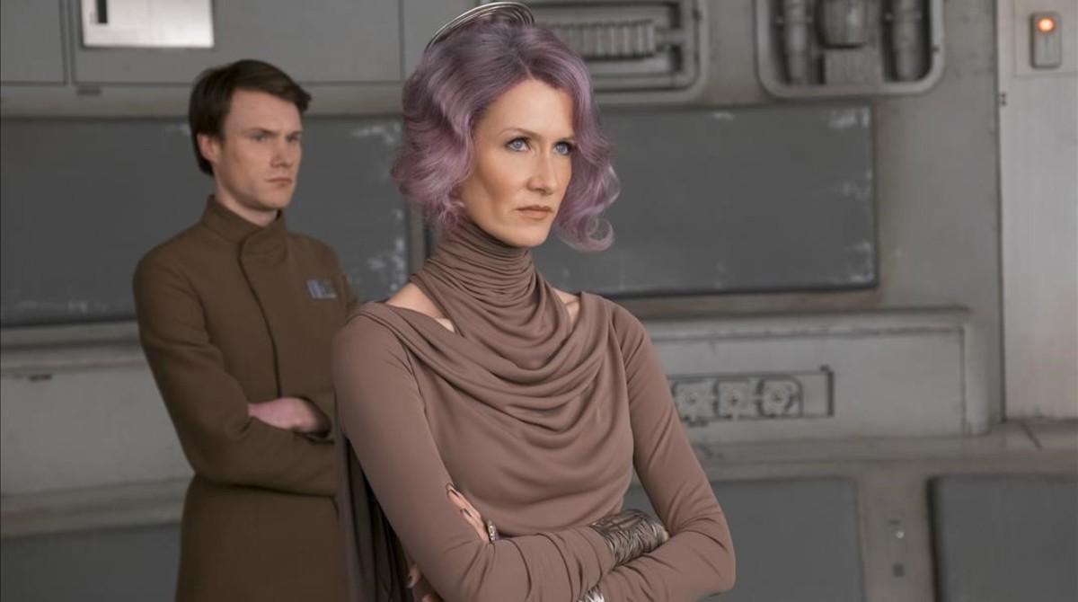 Laura Dern, en el papel de vicealmirante Holdo, en 'Star Wars: Los últimos Jedi'.