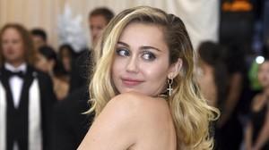 Miley Cyrus durante una gala benéfica en el Metropolitan Museum of Art el 7 de mayo del 2018