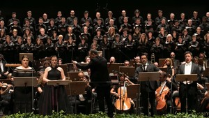 Inauguración del Festival Castell de Peralada, con el Réquiem, de Verdi, en memoria de Carmen Mateu.