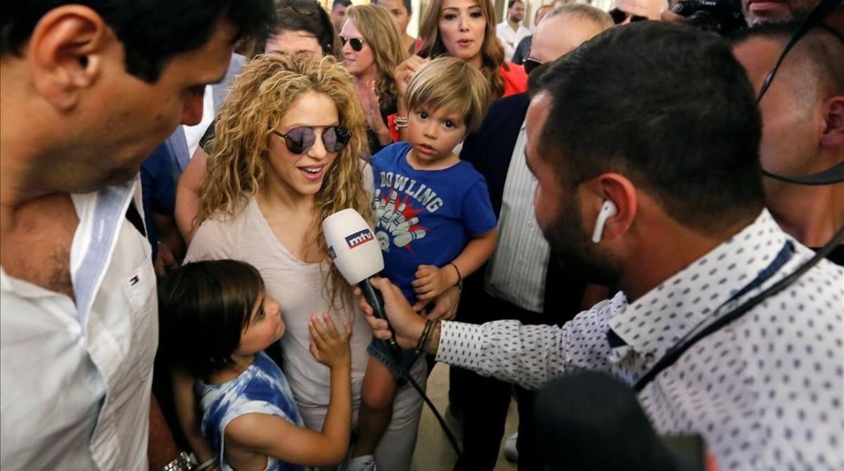 Llegada de Shakira a Beirut.