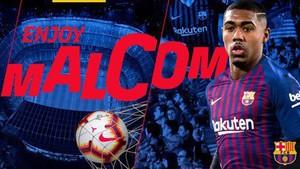 El anuncio azulgrana del fichaje de Malcom por cinco temporadas.