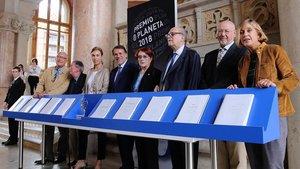 Una imagen de la presentación del Premio Planeta, el domingo pasado.