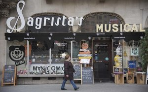 Sagrista's Musical, hecha un palimpsesto tras renacer como local de comidas italianas.