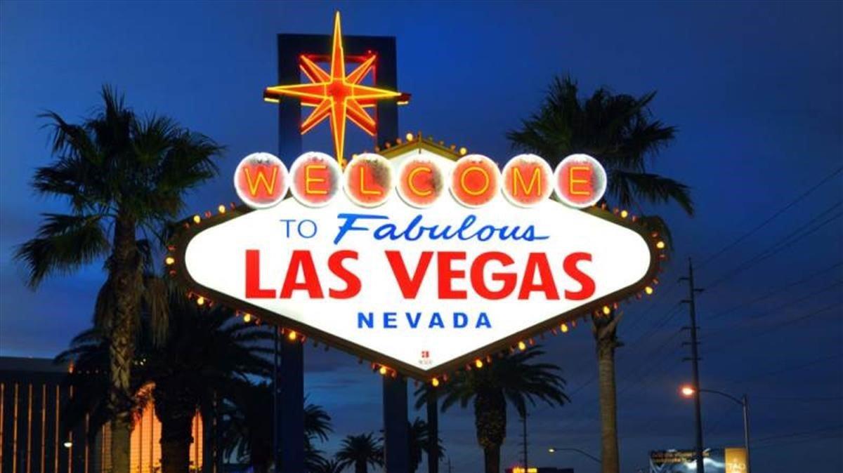 Un cartel en Las Vegas.
