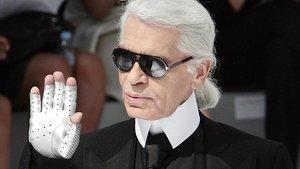 El diseñador alemán Karl Lagerfeld.