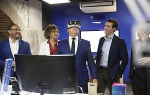 Alejandro Fernández, Dolors Montserrat, Josep Bou y Pablo Casado en Barcelona.
