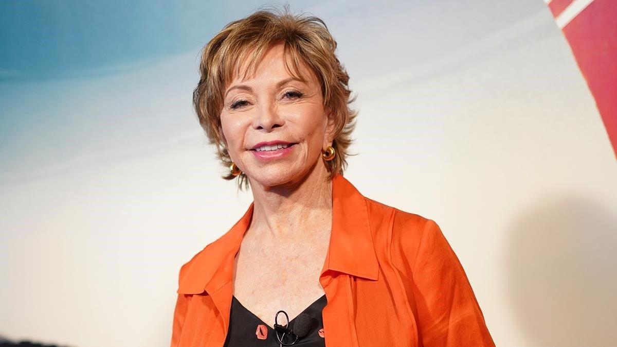 Isabel Allende, en Madrid, este lunes.