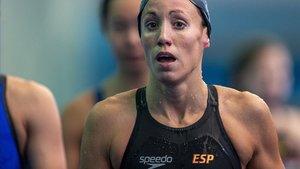 La nadadora española Jessica Vall en los Mundiales de Gwangju (Corea del Sur).
