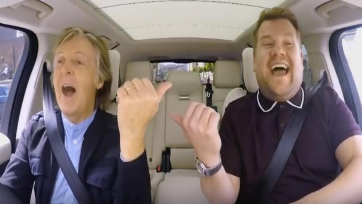 Paul McCartney y James Corden cantan en Carpool Karaoke.