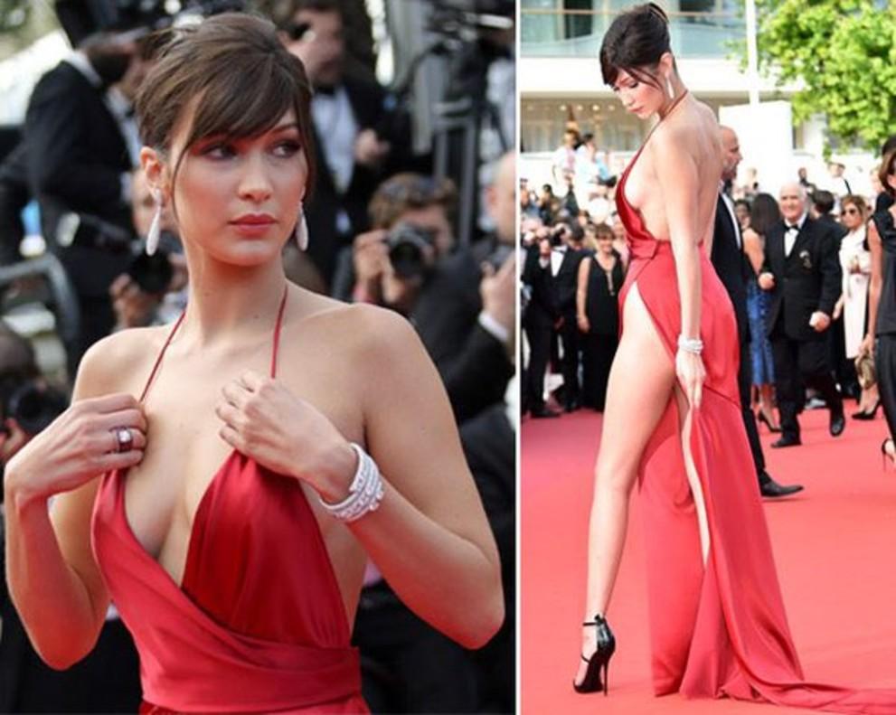 Mujer vestido rojo pelicula