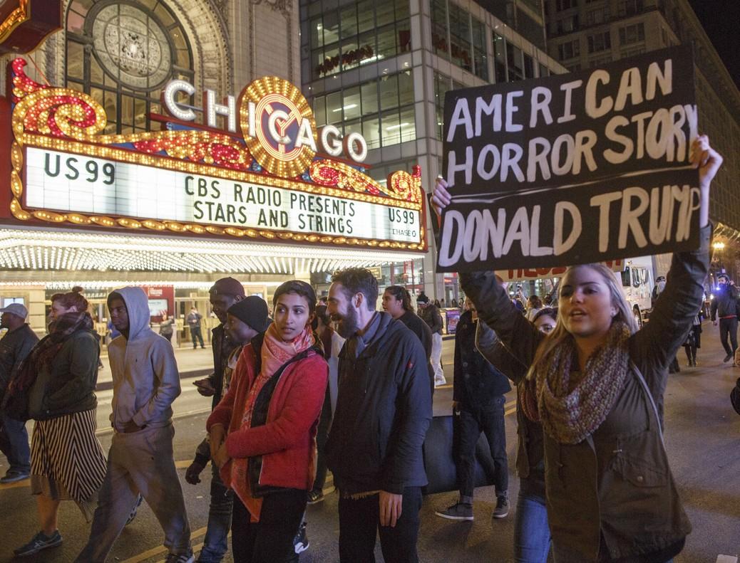 Protestas contra Trump en Chicago.