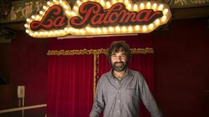 El director y guionista Mateo Gil, durante el rodaje en Barcelona de Las leyes de la termodinámica