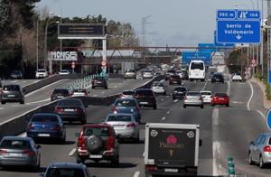 Jueves Santo en las carreteras de Madrid
