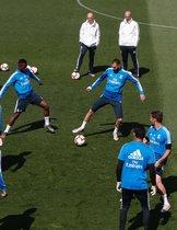 Último entrenamiento del Madrid antes de terminar La Liga.