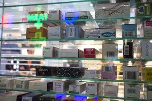 Medicamentos expuestos en el salón Infarma de Barcelona.