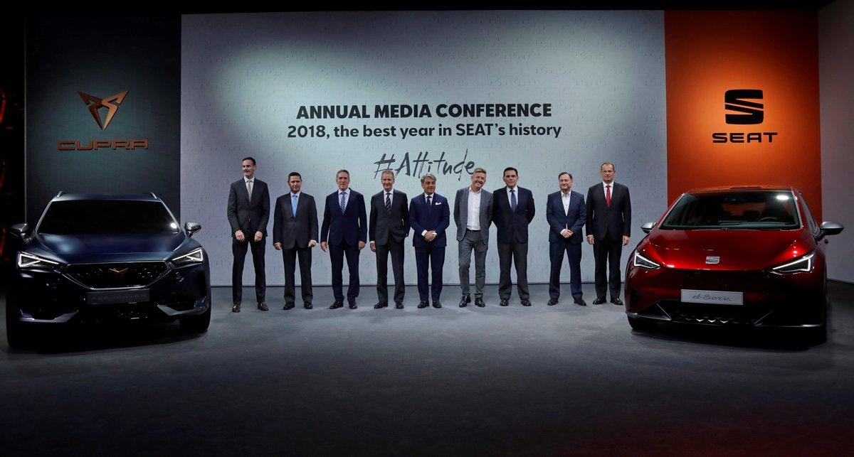 Los directivos de Seat y el grupo Volkswagen presentan los resultados del 2018.