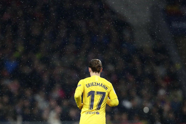 El barcelonista Antoine Griezmann durante su primera visita al Wanda Metropolitano.