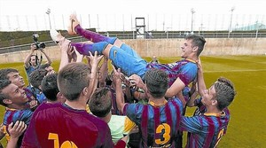 Adrià Vilanova dedica un gol vital a Tito