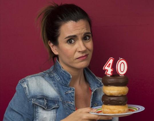 La actriz Agnès Busquets,protagonista de la serie 39+1 (TV-3).