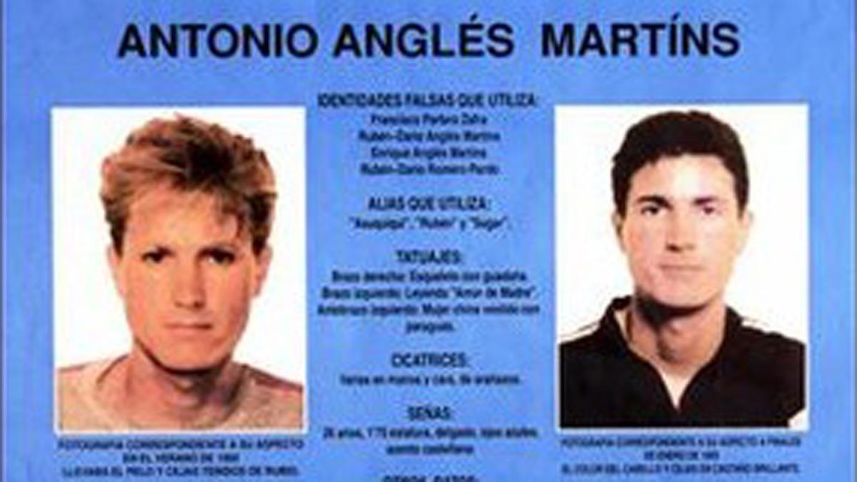 Fragmento del cartel de búsqueda de Antonio Anglés.
