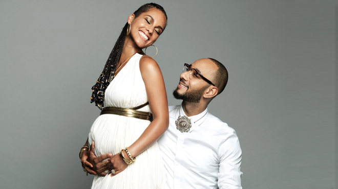 Alicia Keys y su marido actor y músico Swizz Beatz.