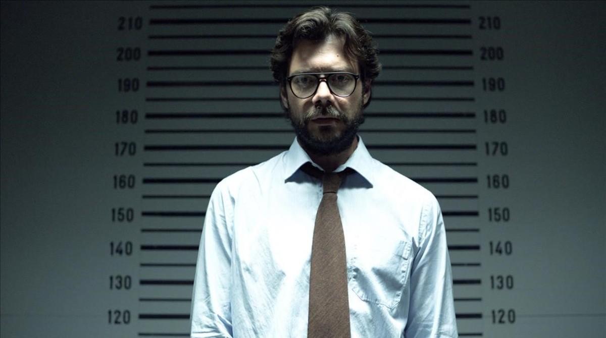 El actor Álvaro Morte, en la serie 'La casa de papel', de Antena 3.