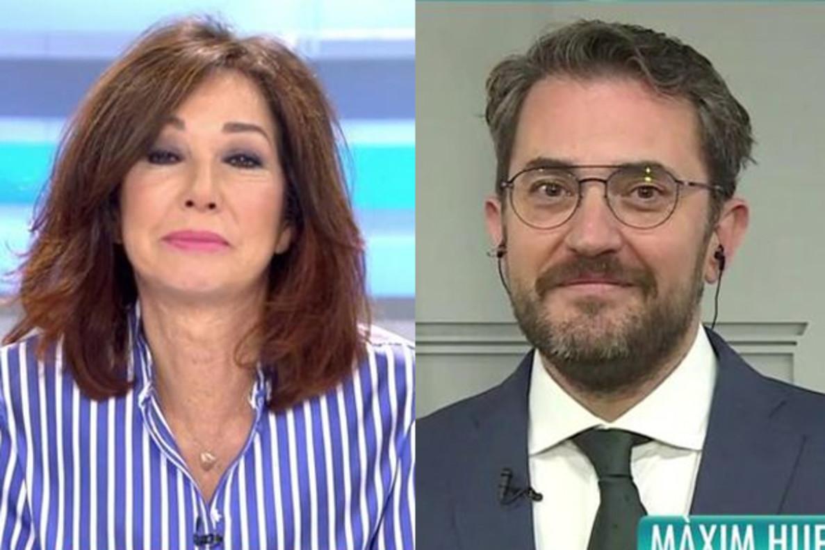 El reencuentro más esperado: Ana Rosa entrevista en directo a Màxim Huerta, ministro de Cultura y Deporte