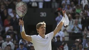 Anderson disfruta de su triunfo sobre Federer en Wimbledon,