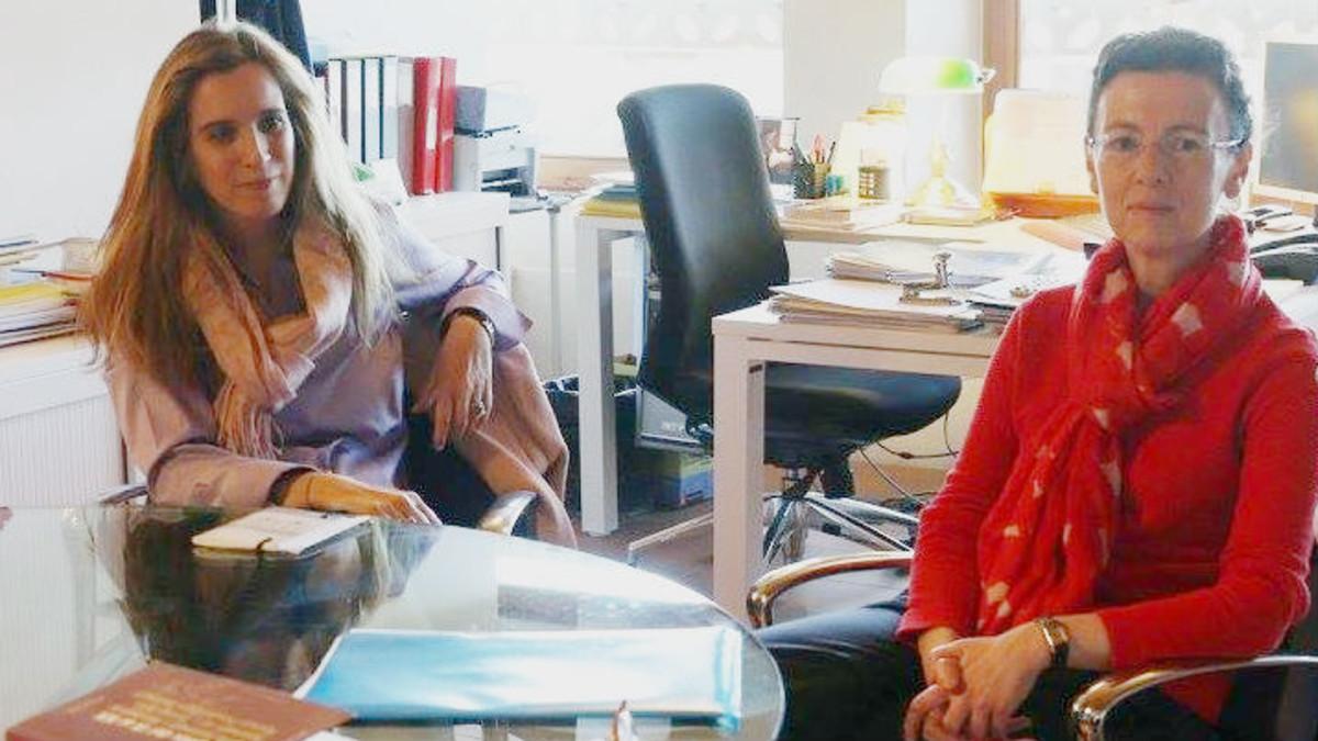 Anna Pagès y Begoña Roman, en una charla en Barcelona en el 2016