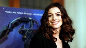 Anne Hathaway, en el estreno de Colossal, en Los Ángeles en abril del 2017.