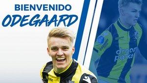 El anuncio de la llegada de Odegaard a la Real Sociedad.